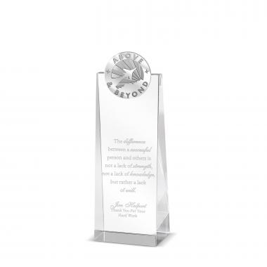 Above & Beyond Tower Medallion Crystal Award