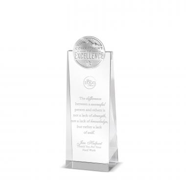 Commitment to Excellence Tower Medallion Crystal Award