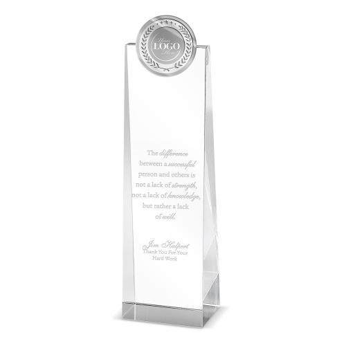 Custom Tower Medallion Crystal Award