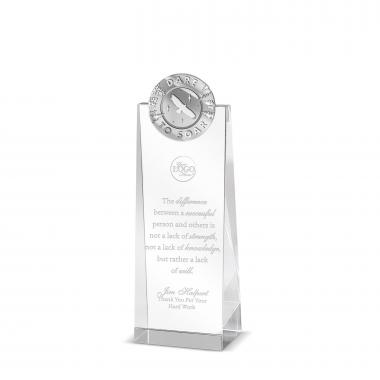 Dare to Soar Tower Medallion Crystal Award