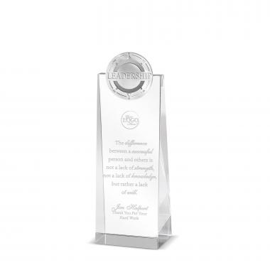 Leadership Compass Tower Medallion Crystal Award