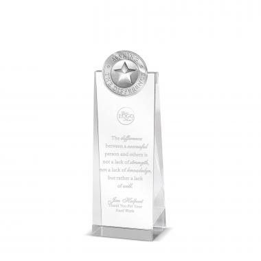 Making the Difference Tower Medallion Crystal Award