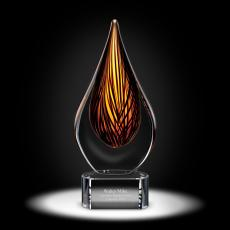 Glass Trophies - Chatoyant Art Glass Award