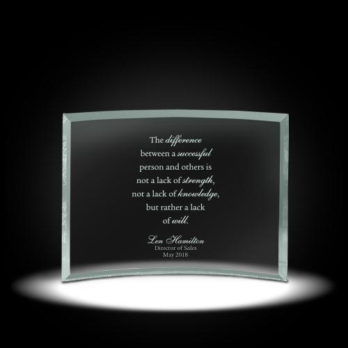 Leadership Curved Glass Award