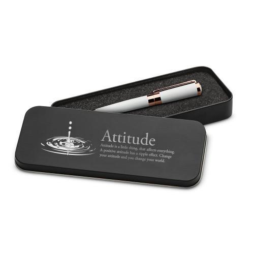 Attitude Drop Executive Rose Gold Pen Set & Case