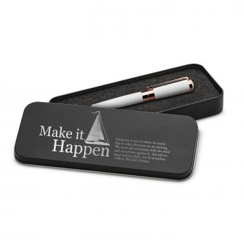 Make It Happen Sailboat Executive Rose Gold Pen Set & Case