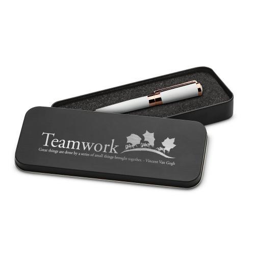 Teamwork Ants Executive Rose Gold Pen Set & Case