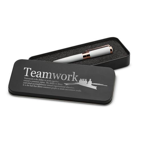 Teamwork Rowers Executive Rose Gold Pen Set & Case