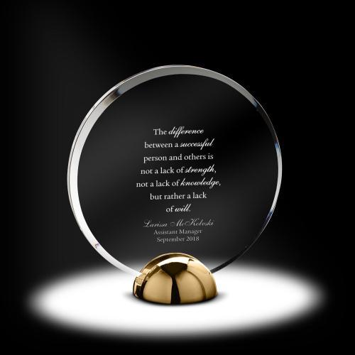 Alloy Disc Acrylic Award