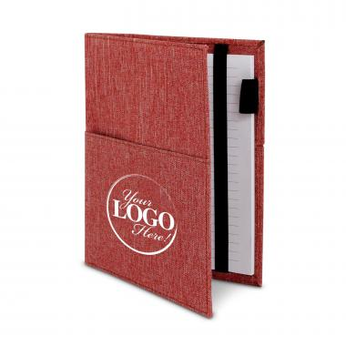 Custom Logo Canvas Notebook