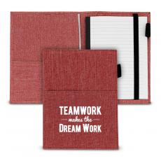 Notebooks - Teamwork Makes the Dream Work Canvas Notebook