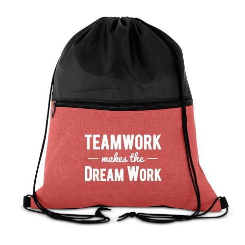 Teamwork Makes the Dream Work Drawstring Backpack