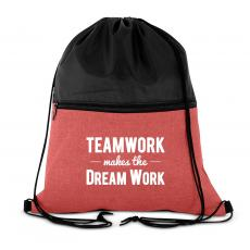 Teamwork Makes the Dream Work Drawstring Backpack