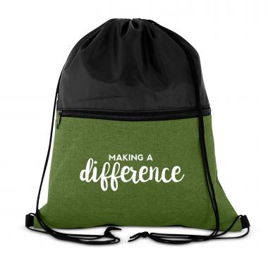Making a Difference Drawstring Backpack