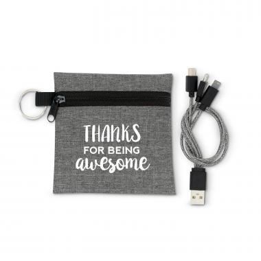 Thanks for Being Awesome USB Cable Set