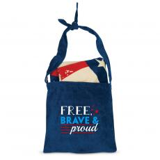 Closeout and Sale Center - Free, Brave & Proud American Flag Towel N' Tote