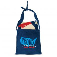 Closeout and Sale Center - Proud to Be Part of This Team American Flag Towel N' Tote