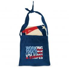 Closeout and Sale Center - Working Together Like Stars & Stripes American Flag Towel N' Tote