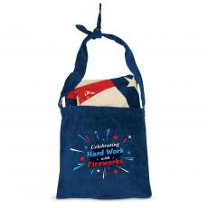 Closeout and Sale Center - Celebrating Hard Work with Fireworks American Flag Towel N' Tote