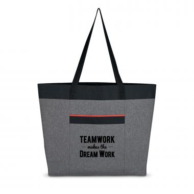 Teamwork Makes the Dream Work Heathered Tote