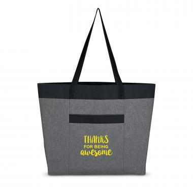 Thanks for Being Awesome Heathered Tote