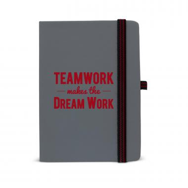 Teamwork Makes the Dream Work Striped Accent Journal