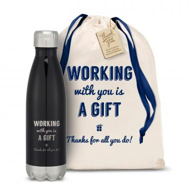 Working With You is a Gift Thanks Swig 16oz Bottle