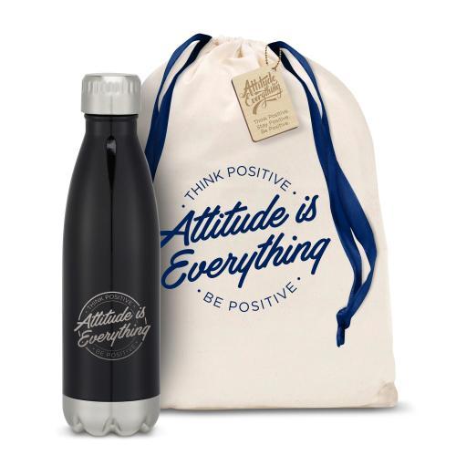 Attitude is Everything Circle Swig 16oz Bottle
