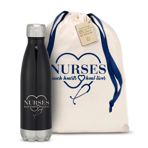 Nurses Touch Hearts Swig 16oz Bottle