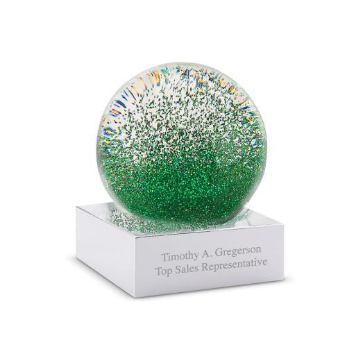Personalized Mini Glitter Globe