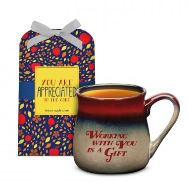 Working With You is a Gift Stone Mug & Cider Gift Set