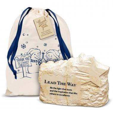 Lead the Way Stone Image Paperweight Holiday Gift Set