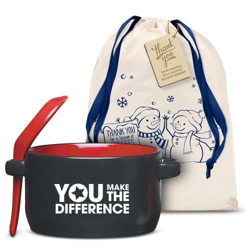 You Make the Difference Red Soup Mug Holiday Gift Set
