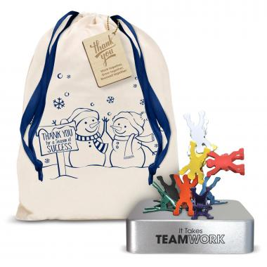 Teamwork Magnetic Clip Holder Holiday Gift Set