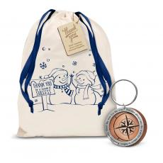 Gift Sets - Leadership Compass Metal Keychain Holiday Gift Set