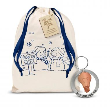 Bright Ideas Metal Keychain Holiday Gift Set