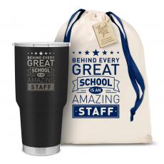 Vacuum Insulated - The Big Joe - Behind Every Great School 30oz. Stainless Steel Tumbler