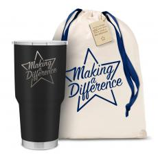 Vacuum Insulated - The Big Joe - Making a Difference Star 30oz. Stainless Steel Tumbler