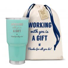 Yeti & Joe Tumblers - The Big Joe - Working With You is a Gift Thanks 30oz. Stainless Steel Tumbler
