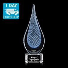 Quick Ship Awards - Quick Ship - Blue Artglass Award