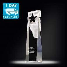 Quick Ship Awards - Quick Ship - Star Obelisk Crystal Award