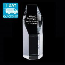 Quick Ship Awards - Quick Ship - Hexa Crystal Obelisk Award