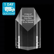 Quick Ship Awards - Quick Ship - Penta Crystal Obelisk Award