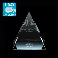 Quick Ship Awards - Quickship - Crystal Pyramid Award