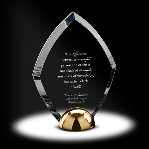 Alloy Cutlass Acrylic Award