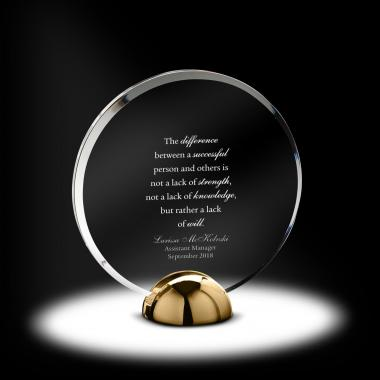 Alloy Disc Acrylic Award