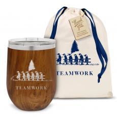 Drinkware - Teamwork Penguins Stainless Steel Wine Tumbler Holiday Gift Set