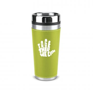 Together We Can 16oz Leatherette Tumbler