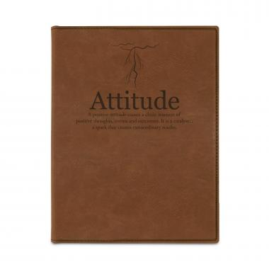 Attitude Lightning Vegan Leather Padfolio