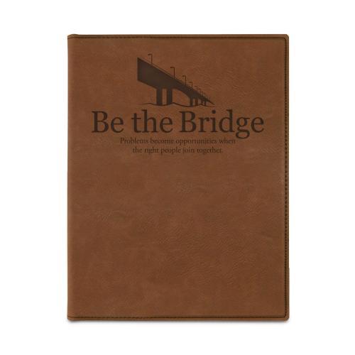 Be the Bridge Vegan Leather Padfolio